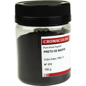 Pigmento Artístico Puro 215 Preto de Marte Cromacolor 100g