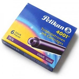 Carga Para Caneta Tinteiro Violeta Pelikan 4001 TP/6
