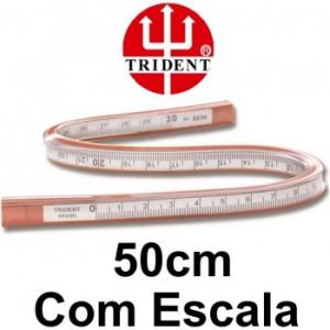 Régua Flexível com Escala 50cm Trident 2250