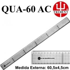 Régua de Corte e Costura Trident QUA-60 Acrílico