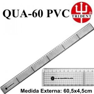 Régua de Corte e Costura Trident QUA-60 PVC