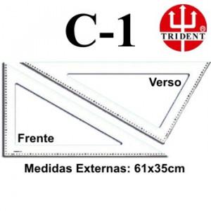 Régua de Corte e Costura Trident C-01