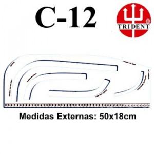 Régua de Corte e Costura Trident C-12