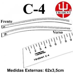 Régua de Corte e Costura Trident C-04
