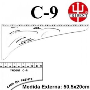 Régua de Corte e Costura Trident C-09