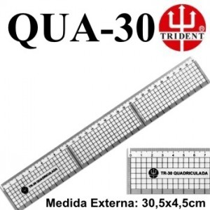 Régua de Corte e Costura Trident QUA-30