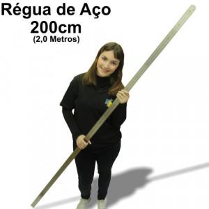 Régua de Aço 200cm (2,0 metros)