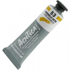 Tinta Acrílica Corfix 37ml  53 Amarelo Ocre