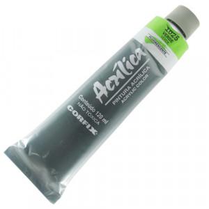 Tinta Acrílica Fluorescente Corfix 120ml 1025 Verde