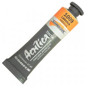 Tinta Acrílica Fluorescente Corfix 37ml 1009 Laranja