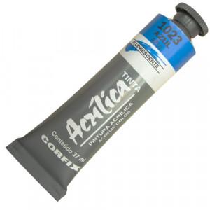 Tinta Acrílica Fluorescente Corfix 37ml 1023 Azul