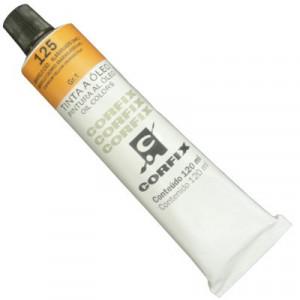 Tinta a Óleo Corfix 120ml 125 Amarelo Cád. Alaranjado (IMIT) G1