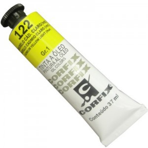 Tinta a Óleo Corfix 37ml 122 Amarelo Cád. Claro (IMIT) - G1