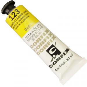 Tinta a Óleo Corfix 37ml 123 Amarelo Cád. (IMIT) - G1