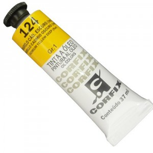 Tinta a Óleo Corfix 37ml 124 Amarelo Cád. Escuro (IMIT) - G1