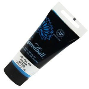 Tinta de Xilogravura 37ml SpeedBall 3425 Azul Fluorescente