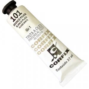 Tinta a Óleo Corfix 37ml 101 Branco Prata - G1