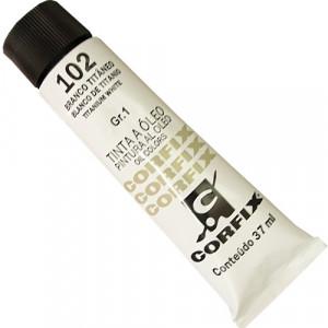 Tinta a Óleo Corfix 37ml 102 Branco Titânio - G1