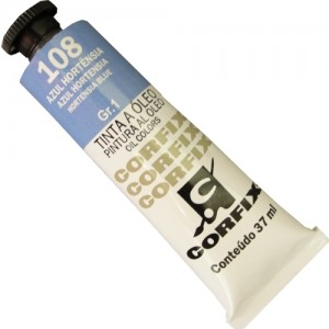 Tinta a Óleo Corfix 37ml 108 Azul Hortênsia - G1