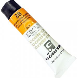 Tinta a Óleo Corfix 37ml 38 Amarelo Cádmio Alaranjado - G3