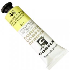 Tinta a Óleo Corfix 37ml  46 Amarelo Brilhante Claro - G1