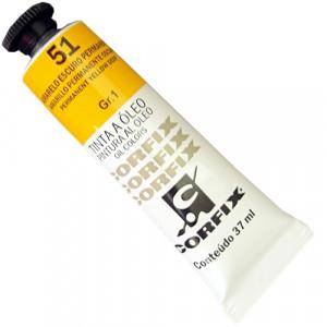 Tinta a Óleo Corfix 37ml  51 Amarelo Escuro Permanente - G1