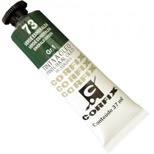 Tinta a Óleo Corfix 37ml  73 Verde Esmeralda - G1