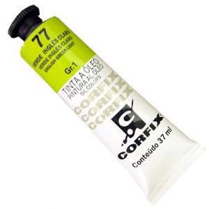 Tinta a Óleo Corfix 37ml  77 Verde Inglês Claro - G1