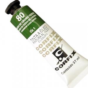 Tinta a Óleo Corfix 37ml  80 Óxido Cromo Verde - G1