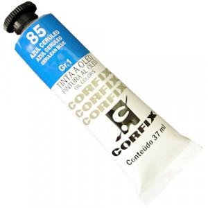 Tinta a Óleo Corfix 37ml  85 Azul Ceruleo - G1