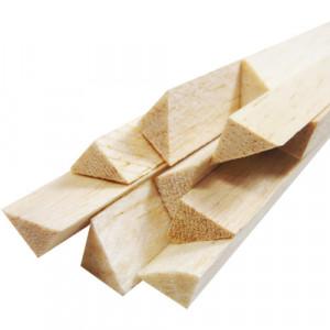 Vareta de Madeira Balsa Triangular 08x08x930mm