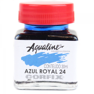 Aqualine Aquarela Líquida 24 Azul Royal 30ml Corfix