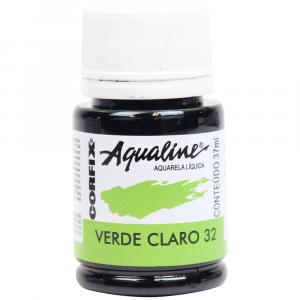Aqualine Aquarela Líquida 32 Verde Claro 37ml Corfix