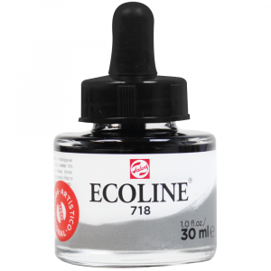 Aquarela Líquida Ecoline Talens 30ml 718 Warm Grey