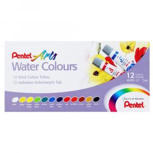 Tinta Aquarela Pentel Bisnaga 12 Cores