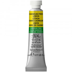 Tinta Aquarela Profissional Winsor & Newton Tubo 5ml S4 893 Cadmium-Free Lemon
