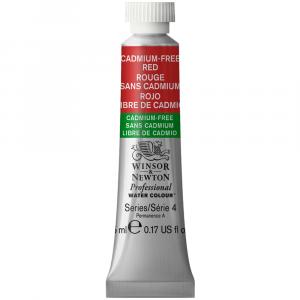 Tinta Aquarela Profissional Winsor & Newton Tubo 5ml S4 901 Cadmium-Free Red