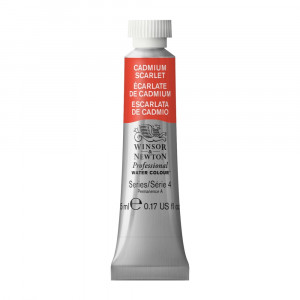 Tinta Aquarela Profissional Winsor & Newton Tubo 5ml S4 106 Cadmium Scarlet