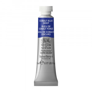 Tinta Aquarela Profissional Winsor & Newton Tubo 5ml S4 180 Cobalt Blue Deep