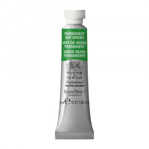 Tinta Aquarela Profissional Winsor & Newton Tubo 5ml S1 503 Permanent Sap Green