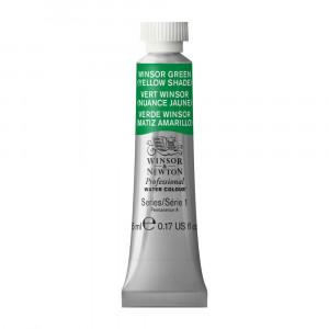 Tinta Aquarela Profissional Winsor & Newton Tubo 5ml S1 721 Winsor Green (Yellow Shade)