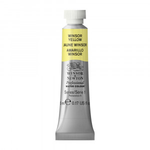 Tinta Aquarela Profissional Winsor & Newton Tubo 5ml S1 730 Winsor Yellow