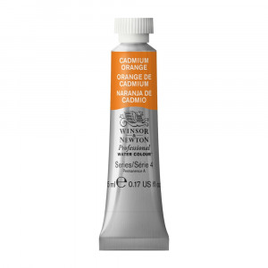 Tinta Aquarela Profissional Winsor & Newton Tubo 5ml S4 089 Cadmium Orange