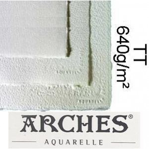 Papel para Aquarela Arches TT Canson 56x76 640g/m²
