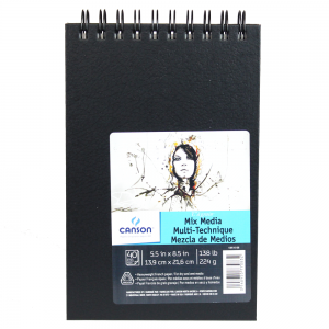 Bloco de Sketch Book Mix Media Canson 13,9X21,6cm 40 folhas
