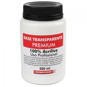 Base Acrílica Transparente PREMIUM Cromacolor  500ml