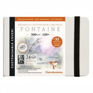 Papel Para Aquarela Fontaine 15x10cm Clairefontaine