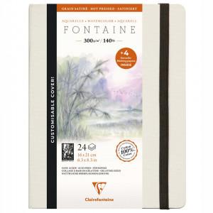 Papel Para Aquarela Fontaine 16x21cm Clairefontaine