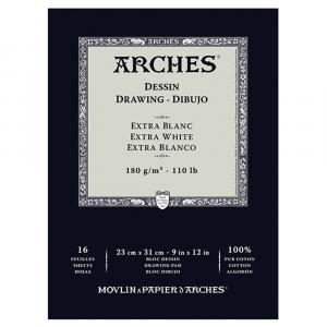 Bloco de Papel Para Desenho Profissional Arches Extra Branco