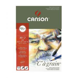 Bloco de Papel C à Grain Canson 224g/m² A3